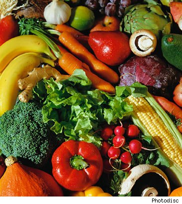sehat dengan sayur dan buah