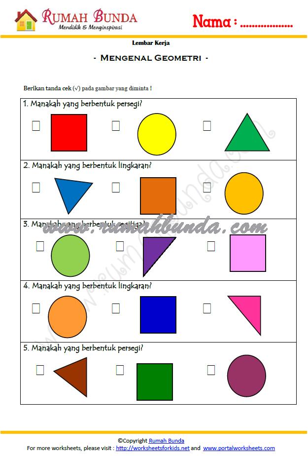 Kumpulan Latihan Soal Untuk Anak Tk Lembar Kerja Anak Tk Rumah Bunda Contoh Soal Matematika