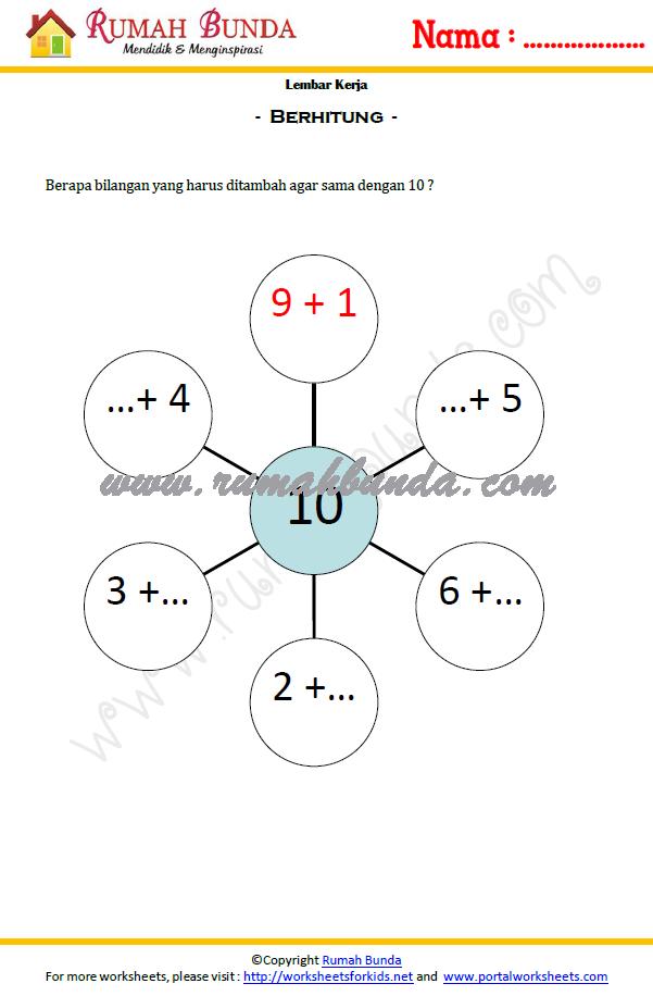 Matematika Anak Tk Rumah Bunda