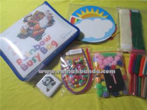 Rainbow Busy Bag - Tas baru