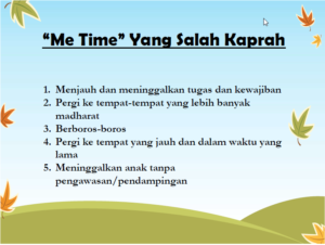me-time-salah kaprah
