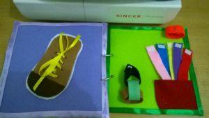 Mengikat tali sepatu dan membuat rantai flanel