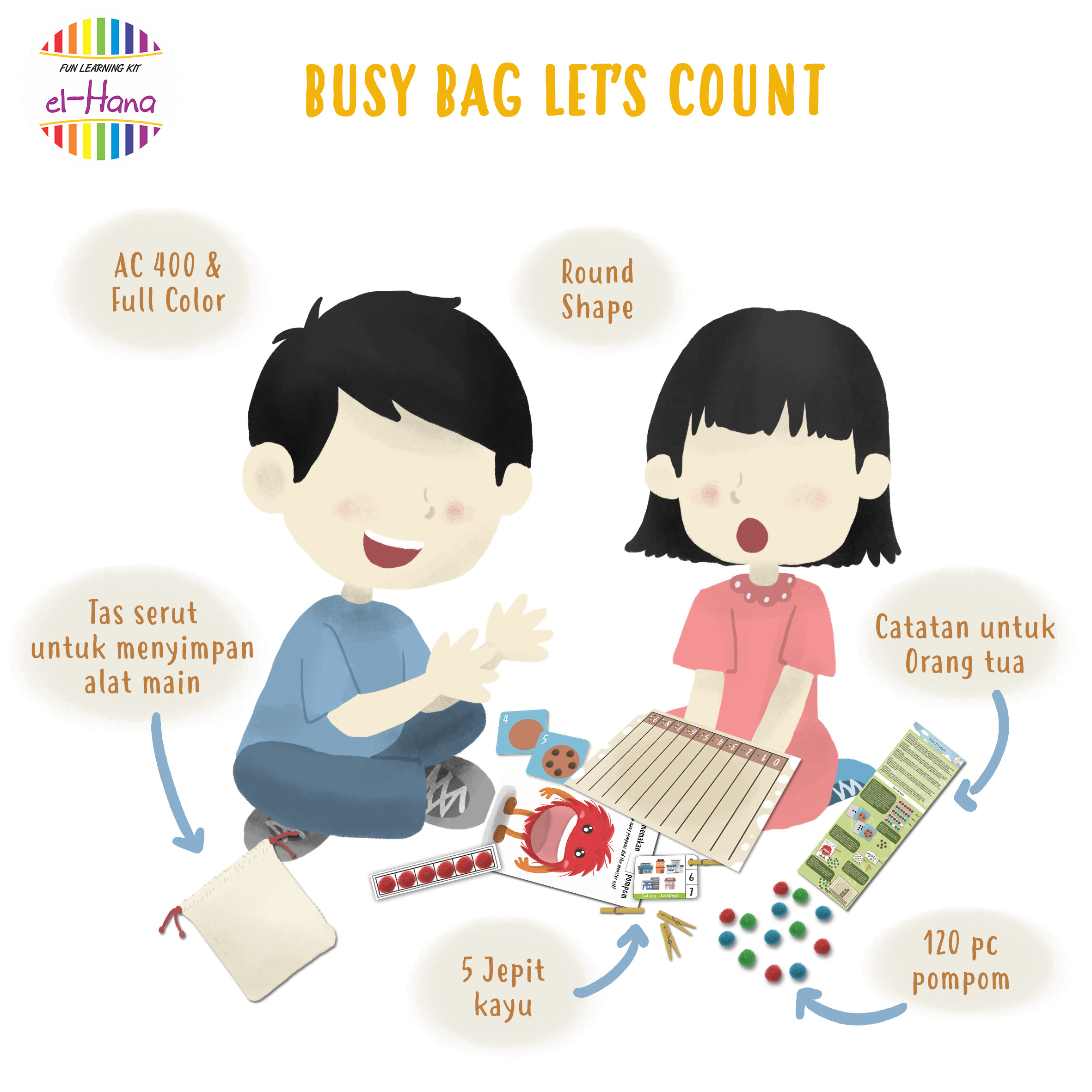 REVIEW BELAJAR BERHITUNG SERU BERSAMA BUSY BAG LET S COUNT BY EL HANA