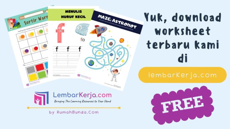 Download LembarKerja Anak Gratis